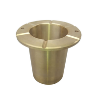 Professional certification factory flange copper sleeve brass flanged bushings hp300 crusher bushing