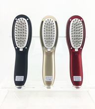 Hot new products human hair hot pick electric comb hair growth massage comb round plastic hair combs