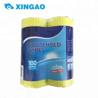 2018 new products on market Factory price cleaning cloth two rolls packing