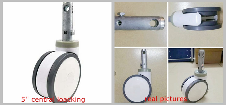 long bolt central locking medical castors wheel caster medical 200mm