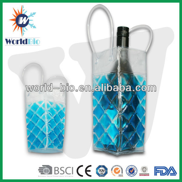 Design PVC Wine Chiller Bag Bottle ice Cooler Bags