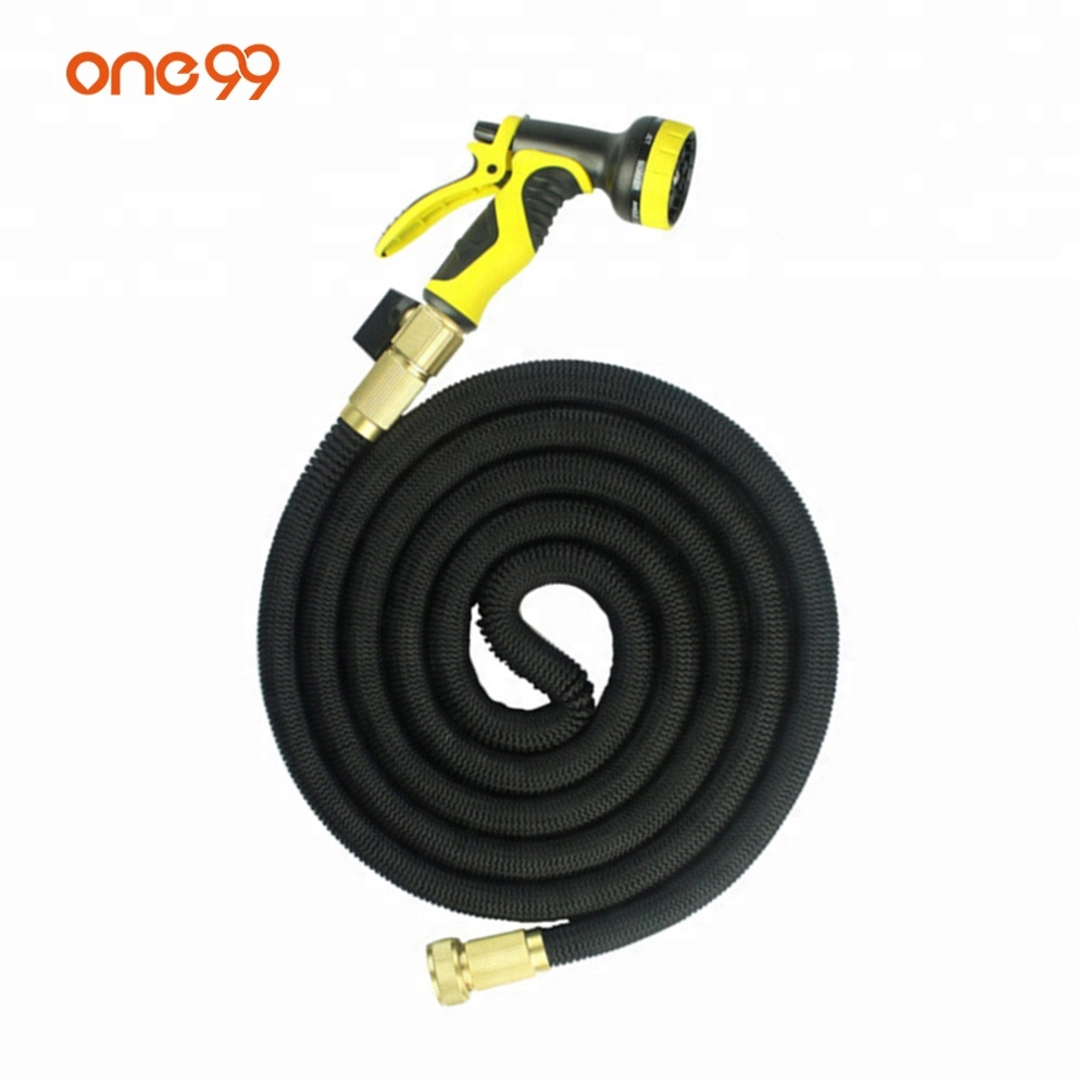 High quality 25 50 75 100 Feet garden hose coil with Spray Nozzle