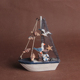 marine style wood sailboat design for souvenir