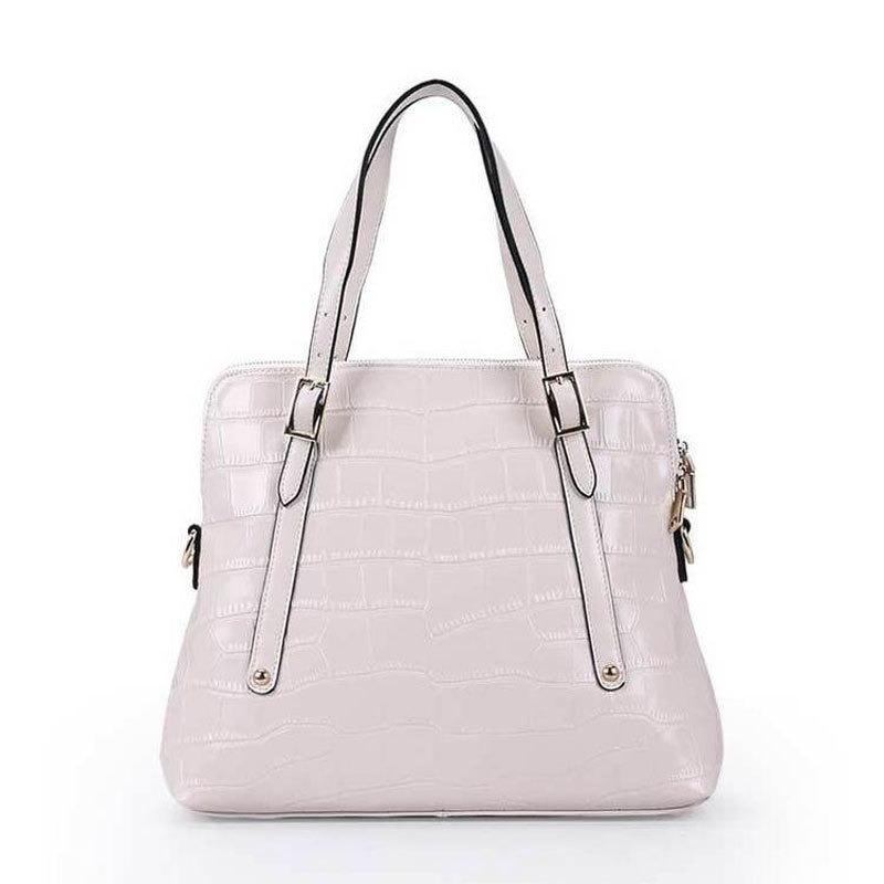 Get Quotations · 2015 Promotion New Big Discount High Quality Fashion Women  White Leather Handbag Genuine Cowhide Hard Solid 98a42b33f1f89
