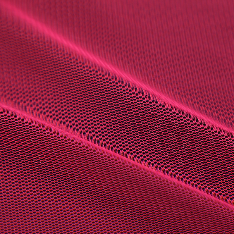 China wholesale 100% polyester PE 40D cheap transparent net soft tulle mesh fabric for wedding dress on sale