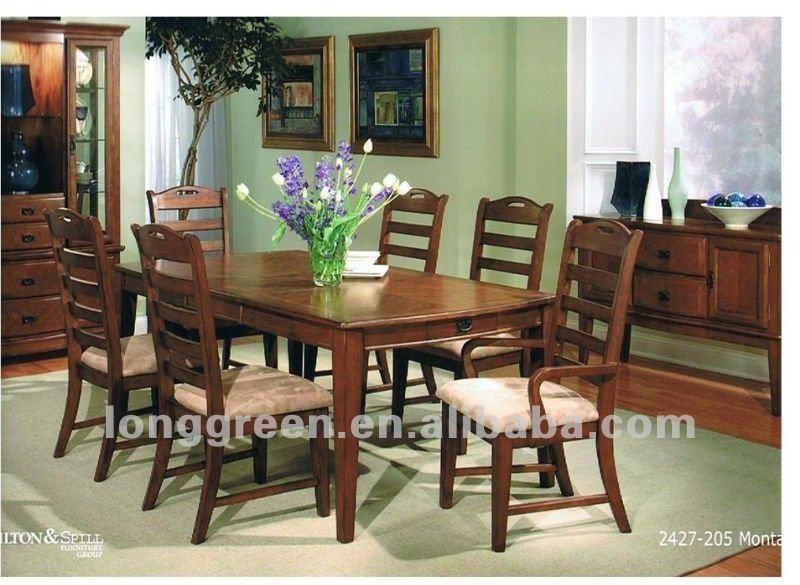 style amricain bois massif salle manger tables - Modele De Salle A Manger En Bois