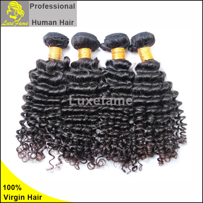 Luxefame Unprocessed Wholesale Virgin Sew In Malaysian Hair Extension Deep Wave Crochet Braid