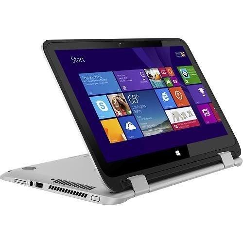 "HP - Pavilion x360 2-in-1 13.3"" Touch-Screen Laptop - Intel Core i3 Processor - 4GB Memory - 500GB Hard Drive - Natural Silver/Ash Silver (4th i3-4030U)"