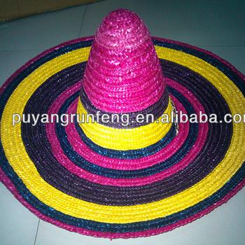 Mexican Wheat Straw Sombrero Big Brim Straw Hats - Buy Sombrero ... 1bda235ef1c4