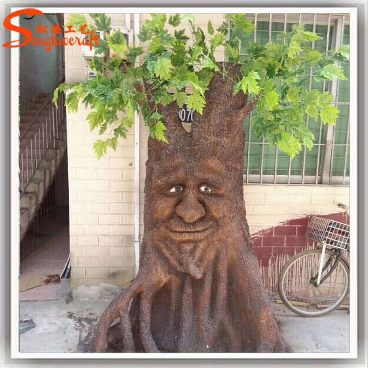 custom Halloween Decorative dry large outdoor artificial tree stumps for decoration