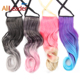 AliLeader Colored Body Wave Bundles Fake Hair Ponytail For Woman