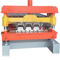 Steel Structural Pre-Engineering Housing Frame High Rib IBR Carbon Steel Floor Decking Plate Cold Roll Forming Machine