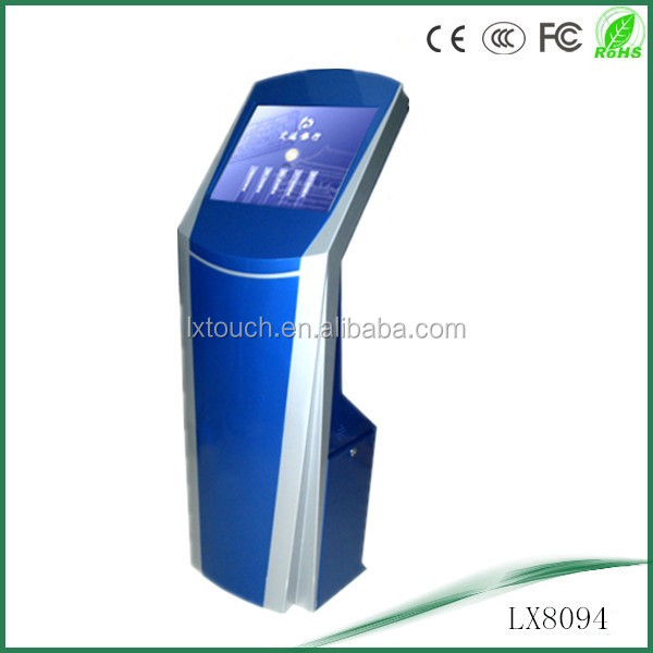19 INCH advertising interactive floor standing kiosk exporting