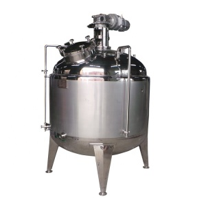 Sanitary High shear dairy emulsification tank/Vacuum Sugar syrup homogenizer/cosmetics emulsifying mixing equipment for liquid