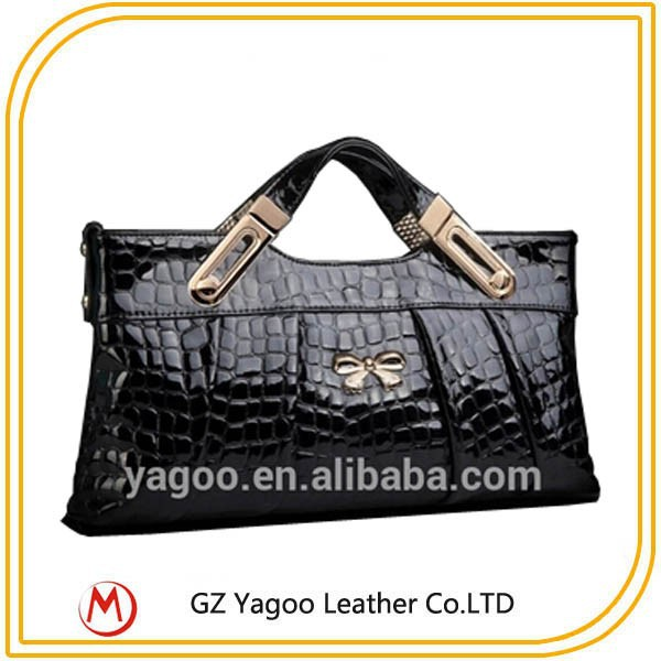 fashion croco leather purse mighty women removable handle purse bags