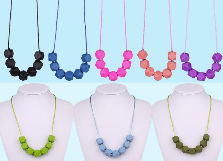 Manufacturer silicone beads jewelry baby teething necklace wholesale