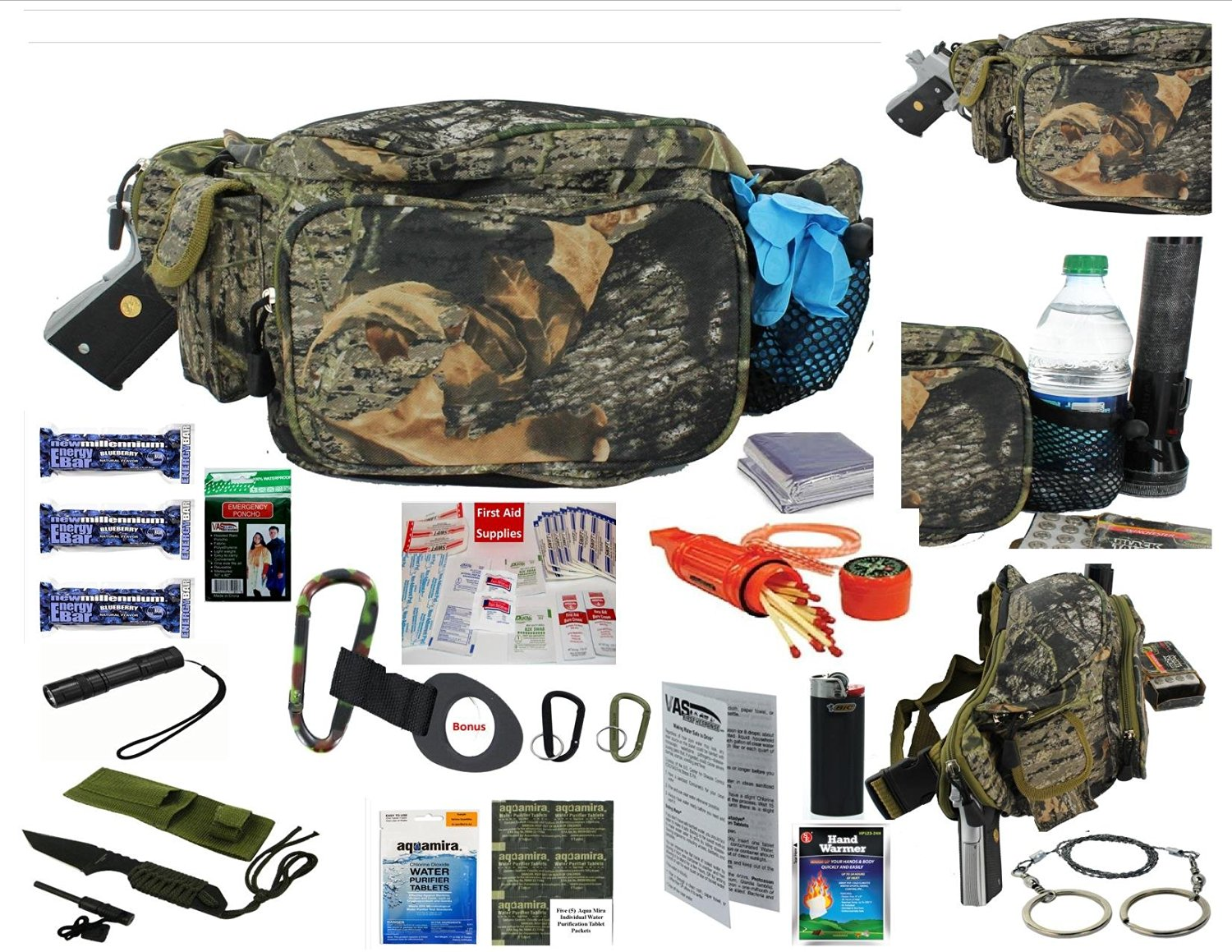 Buy SIS HUNTERS HUNTING CCW EMERGENCY SURVIVAL KIT FANNY PACK -WILDLAND  MOSSY OAK REALTREE CAMO in Cheap Price on Alibaba.com