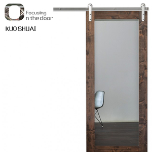 White Sliding Mirror Barn Door for Hotel Bathroom Door