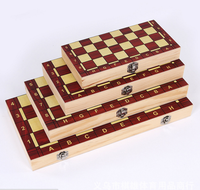 3 in 1 Wooden Chess Game Set Manufacturer Folding Magnetic Chess