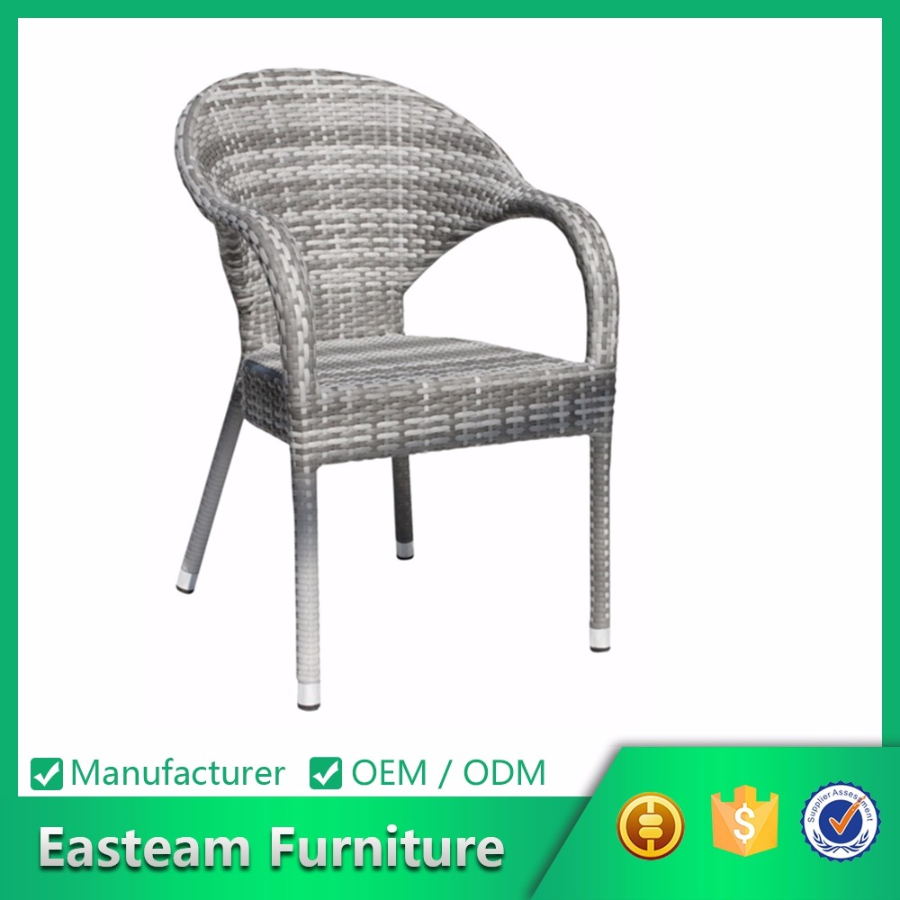 Indonesia Plastic Hidden Ottoman Outdoor French Bistro Imitation Acapulco Flower Rattan Chair
