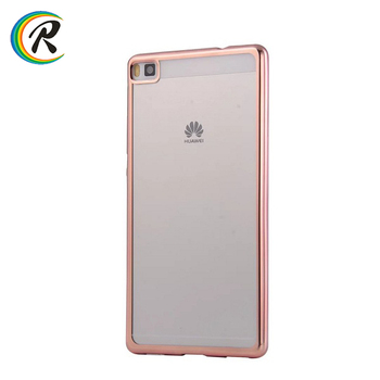 2522c8334ca Silicon case for Huawei for Huawei Ascend P8 P8 lite Electroplated case  smartphone