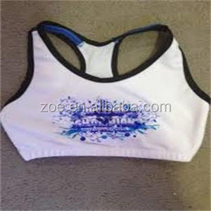 Colorful customized wholesale lycra compression wear cheer bra for cheerleader