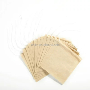 Natural wood pulp filter paper unbleached tea bags with drawstring