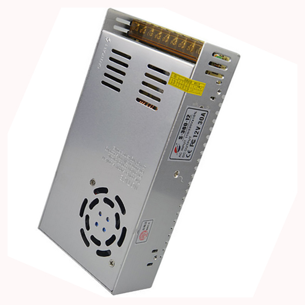 Hot 12V 30A 360W Switching power supply Driver For LED Light Strip Display Factory Supplier Mobinse