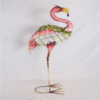 china cheap big pink inflatable flamingo metal crafts for decor