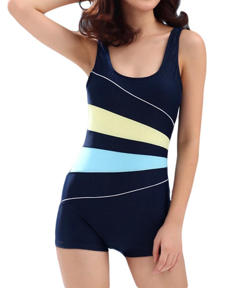 Demarkt женский консервативная купальники спорт купальник тонкий цельный купальный костюм