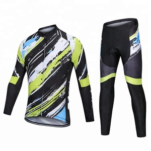 Custom High Quality Sublimation Printing Cycling Jerseys Men's Long Sleeve Cycling Gear Suit Bike Clothes Bicycle Clothing Sets
