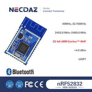 NDB-N2832A-5.0 Low Power UART Transceiver 2.4GHz BLE 5.0 Nordic nRF52832 Bluetooth Low Energy RF Wireless Module