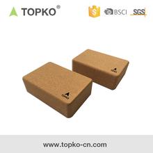 TOPKO Hot selling item high quality cork foam yoga block, yoga brick