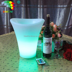 China Made Custom Remote control Plastic led Ice Bucket