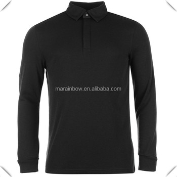 custom 2016 new plain design polyester spandex Mens long sleeve golf  pullover collar POLO shirts f29db7017