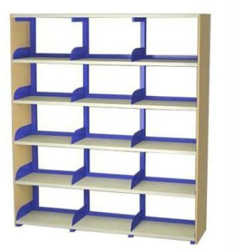 Price Slash School Library Bookshelf 3 Bays Double Sided Shelving
