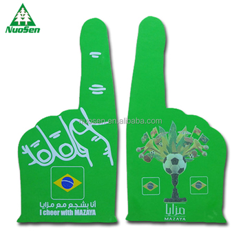 Brazil Woorld Cup Football Game Big Eva Giant Cheer Foam Hands Promotional  Products Factory Price - Buy Factory Price Promotional Products,Promotional