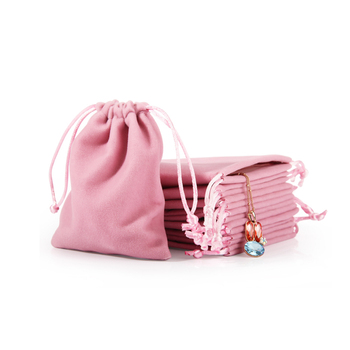 Wholesale Customized Velvet Drawstring Pouch Bag For Jewelry