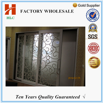 Tempered Glass Bedroom Doors Design Aluminium Frosted Glass Door
