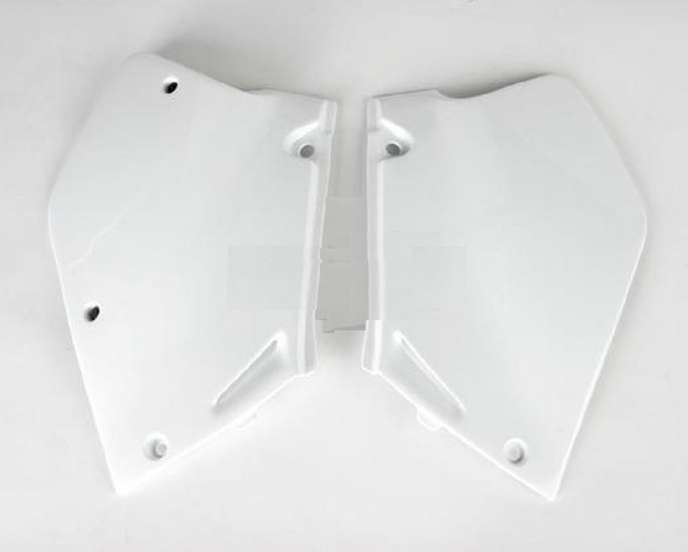 Ufo White Side Plates and Keepitroostin Sticker Fits Honda Cr250 1995-1996