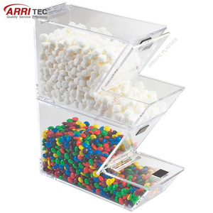 Stackable Acrylic Ice Cream Topping Dispenser
