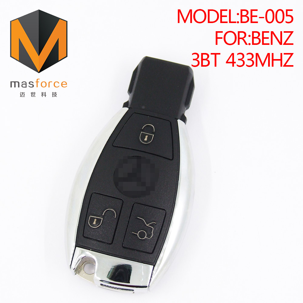 Remote control auto smart card car key for Mercedes Benz BGA 3button 433MHz