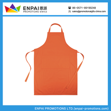 Promotional custom logo printed easily adjustable apron/kitchen apron with two front pockets