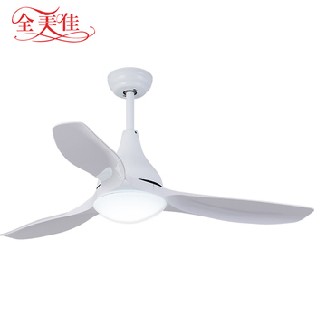 "220v 52"" led light remote control white industrial ceiling fan with light"