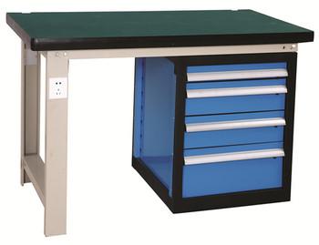 Banco Di Lavoro Con Cassetti : Heavy duty industrial elettronico acciaio banco di lavoro con top