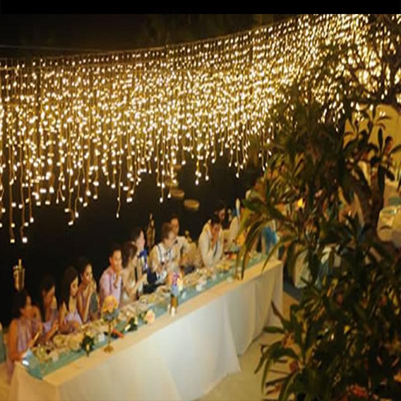led opknoping ijspegel event wedding party huwelijk verlichting huren