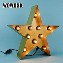 marquee led lamp window display light star metal illuminated sign pop lighting