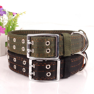 Solid 4 layer nylon waterproof dog collar large african military dog collar
