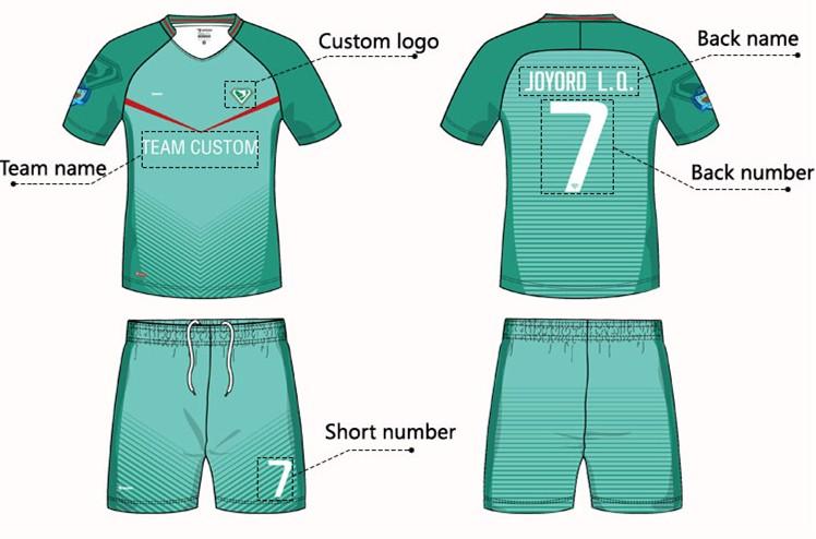 0f75cf493 China custom wholesale plain sublimation polyester football jersey  guangzhou factory