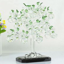 Luxury quality apple k9 colourful crystal tree for business gift